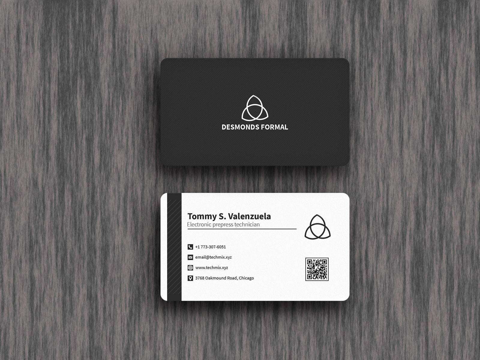 Electronics Proprietor Business Card