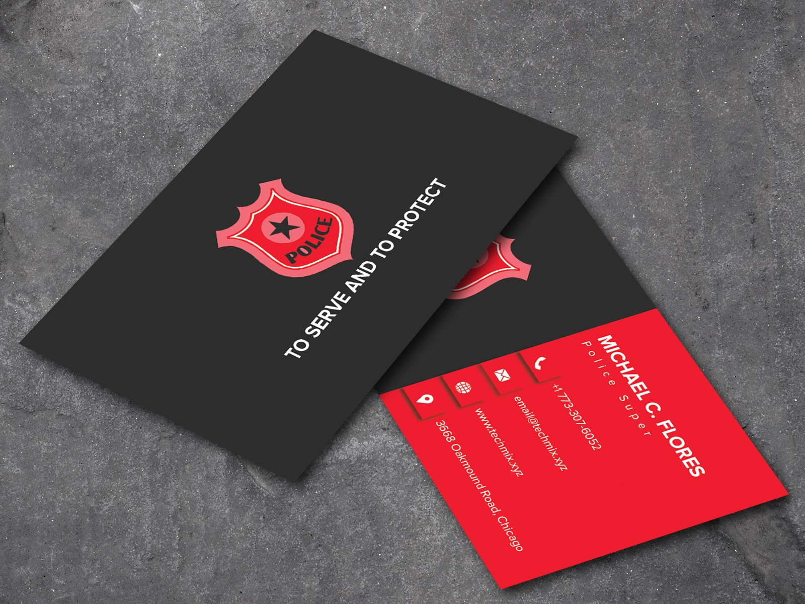 Police Business Card Template