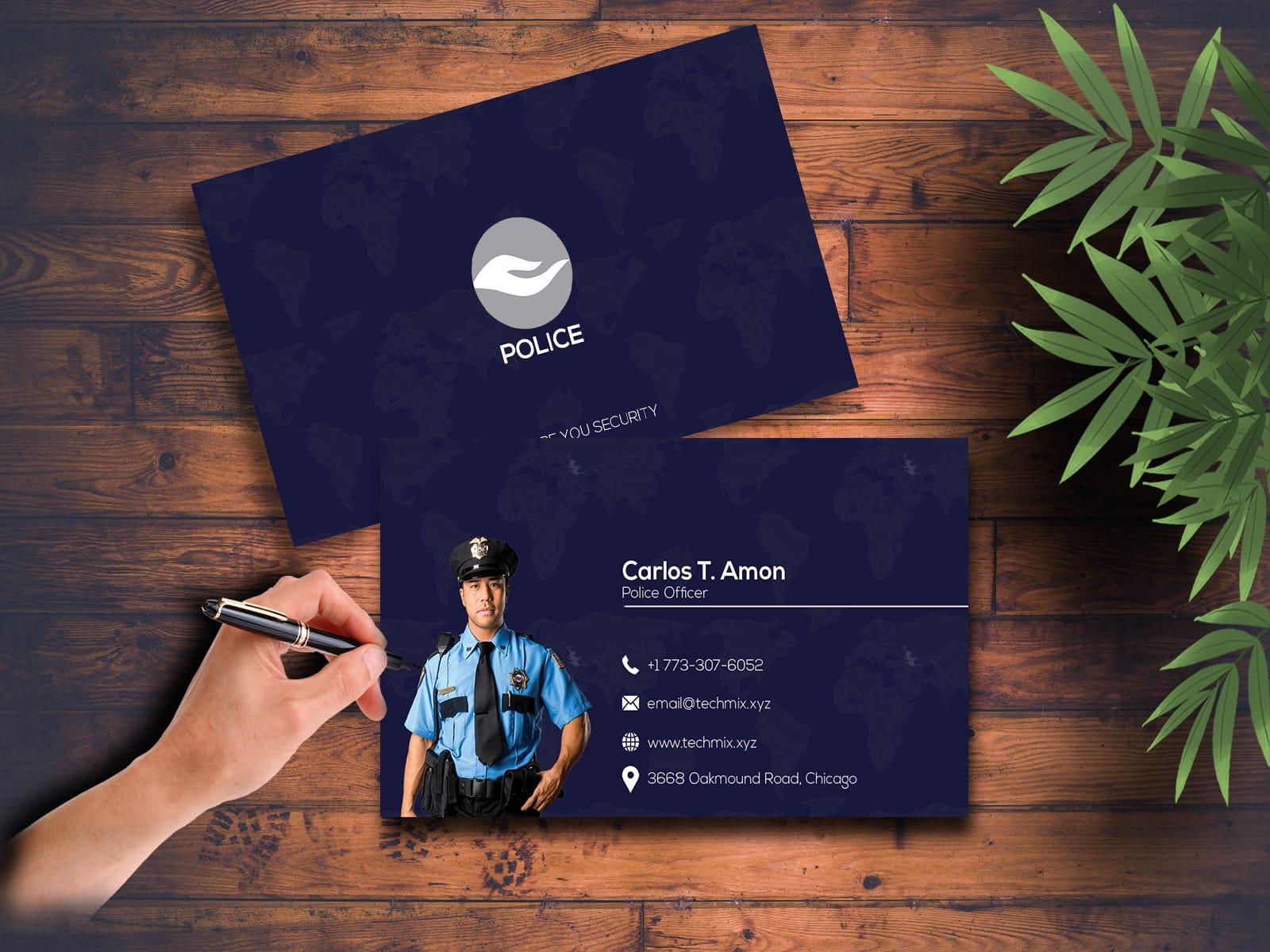 Police Officer Business Card Design