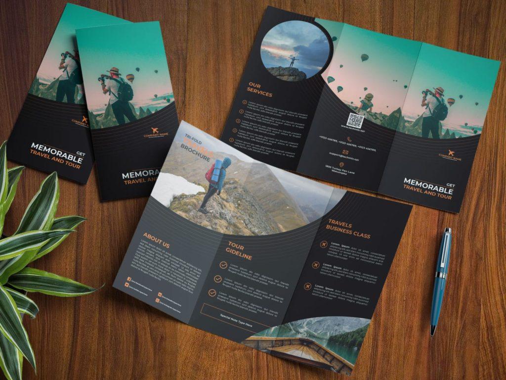 Travel Business Tri-fold Brochure mockup