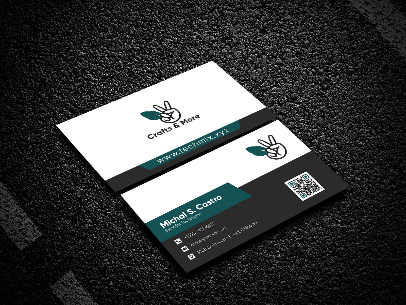 Corporate Style Business Card Design