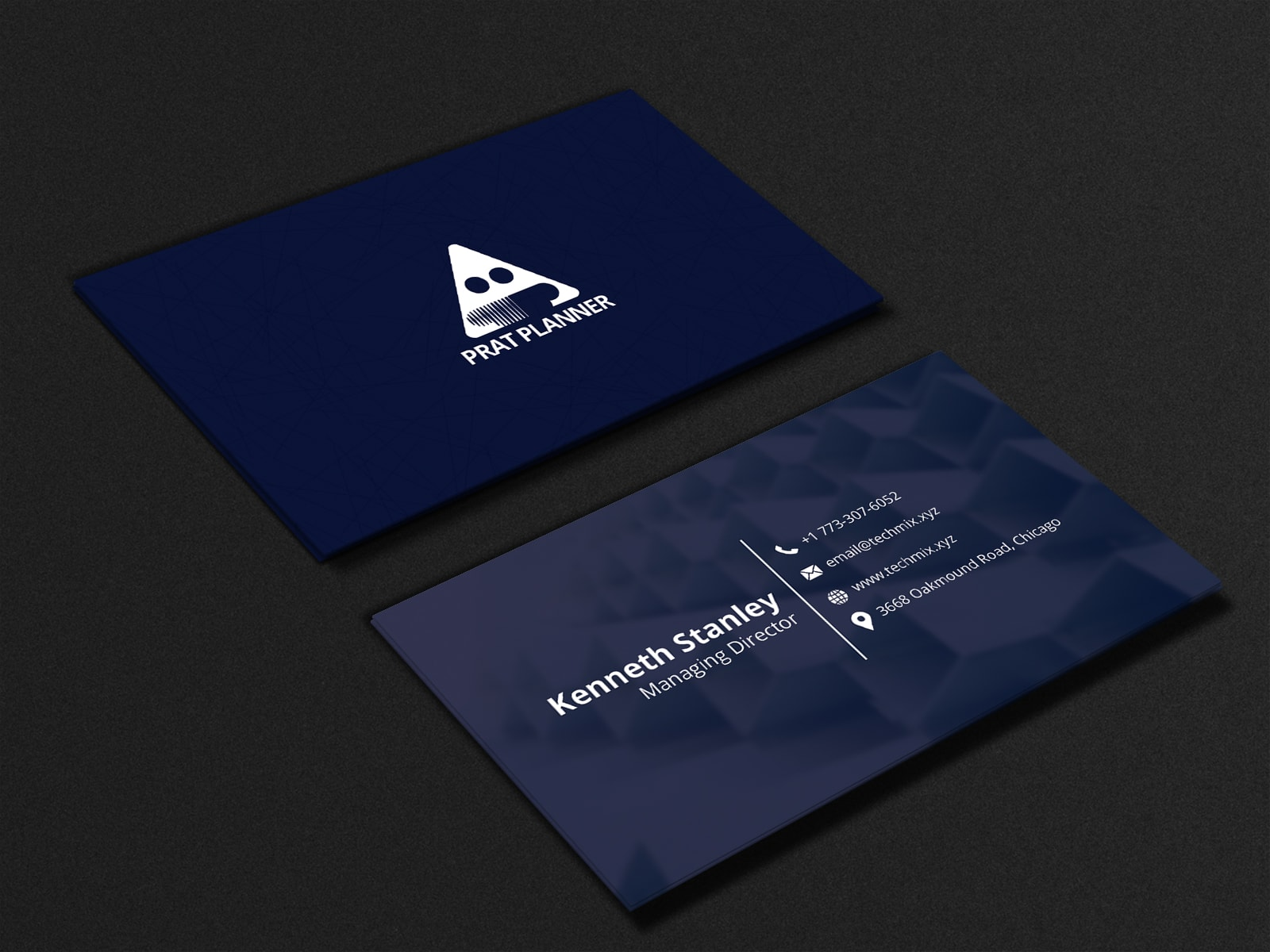 Blue and Black Minimal Business card
