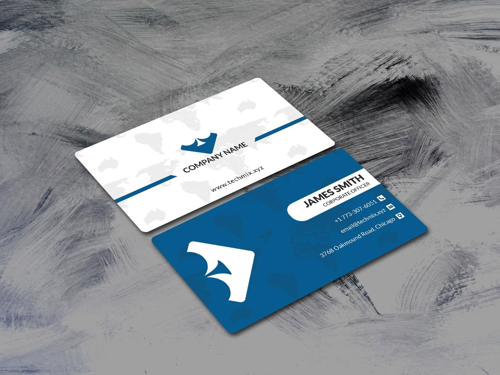 Minimal Corporate Business card Template Design
